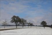 Winter im schneebedeckten Hohenloher Land