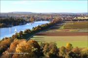 Der sonnige Herbst taucht das Neckartal bei Lauffen in eine unglaubliche Farbstimmung